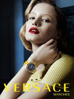 #Versace Watch Campaign Maud Welzen by Alex Franco