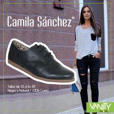 Calzado 100% Cuero #CamilaSanchez marcando tendencia en la #Moda junto a Vanity Shoes