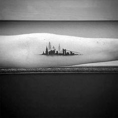 Small Forearm Male Skyline Tattoos