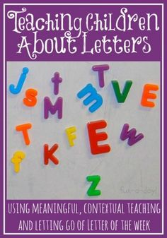 Top Preschool Activities 2013 - Teaching Children About Letters