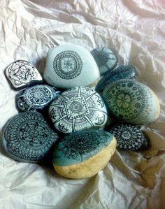 Medium Size Hand Painted Stone Mandala by MandalaMovement on Etsy, $28.00
