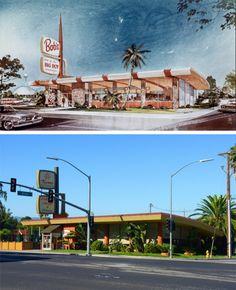 flames coffee shop | Bob's Big Boy Restaurant - San Jose, CA 1966 | 449 South Winchester ...