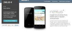 Le Nexus 4 disponible sur le Google Play !