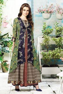 Show details for Alluring multicolor casualwear kurti Kurti Patterns, Designer Blouse Patterns, Dress Patterns, Blouse Designs, Designer Dresses, Designer Kurtis, Indian Gowns, Indian Wear, Indian Outfits