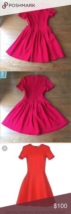 Authentic Opening Ceremony dress One more excellent condition dress, fit on XS-S. Cute red color Opening Ceremony Dresses Mini