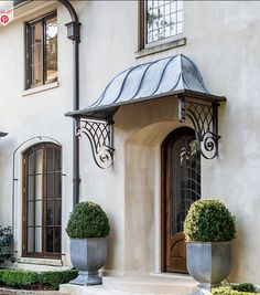 Seven on Sunday - The Enchanted Home Beautiful Architecture, Architecture Details, Front Porch Planters, French Provincial Home, Enchanted Home, Entry Gates, Facade House, House Exteriors, Front Entrances