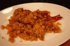 """""""Arroz y Pata""""..rice and gelatine from cow's feet.typical in the area of Villena.Cooked with chickpeas and peppers. Exquisite rice"""