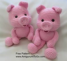Mesmerizing Crochet an Amigurumi Rabbit Ideas. Lovely Crochet an Amigurumi Rabbit Ideas. Crochet Pig, Crochet Mignon, Crochet Patterns Amigurumi, Cute Crochet, Amigurumi Doll, Crochet For Kids, Crochet Animals, Crochet Crafts, Crochet Dolls