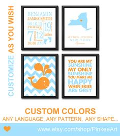 whale baby gift baby stats art ocean theme personalized birth print birth subway art birth stats nursery quote new baby wall decor keepsake by PinkeeArt on Etsy, $29.00