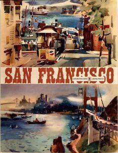 San Francisco, American Airlines byKingman (c. 1964)