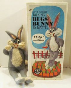 Mattel 1960's Bugs Bunny Pullstring Talking Cartoon Doll w Original Photo Box   eBay