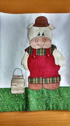 Trabalho em patchwork feitos com tecidos 100% algodão