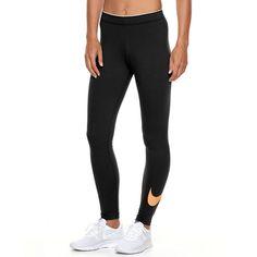 Women's Nike Club Logo Leggings, Size: XL (Charcoal)