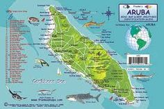 Tourist map of Aruba Aruba tourist map We are going to need this