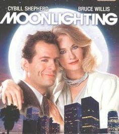"""""""Moonlighting"""" Bruce Willis and Cybil Shepherd Cybill Shepherd, 80 Tv Shows, Old Shows, Great Tv Shows, Cinema Tv, I Love Cinema, Bruce Willis, Moonlighting Tv Show, 1980s Tv"""