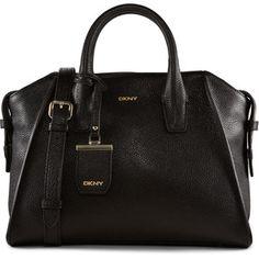 DKNY Fine Pebble Leather Satchel