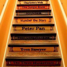storybook staircase. I LOVE this!!!