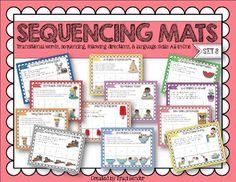 FLASH FREEBIE! I designed these sequencing mats as a fun way to help my students practice sequencing 4 step sequencing tasks. There are a total of 12 mats that involve 4-step sequencing. I've included step-by-step sentences on each page to assist those students that need extra support.