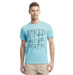 "Short-Sleeve ""Naked Underneath"" T-Shirt - Kenneth Cole"