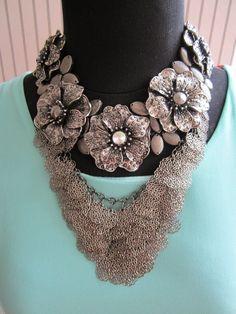 Nadal Crochet Necklace, Jewelry, Fashion, Accessories, Moda, Jewlery, Jewerly, Fashion Styles, Schmuck