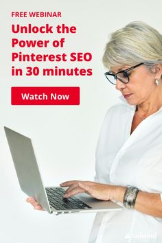 Tailwind's new Pinterest SEO webinar takes the mystery out of getting more traffic from Pinterest! In just 30 minutes, you'll learn how to find your best keywords, where to use them, and how to see if Pinterest is serving your content up to the right people. Enter your email and watch right now! Unlock Iphone, Pinterest Marketing, Social Media Marketing, Seo, Mystery, Finding Yourself, Content, Watch, People