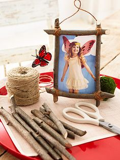 Make a frame from twigs and put a photo from the party in it...cute...could even do as a craft at the party for older kids