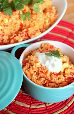 Easy Mexican Rice Recipe! for an alternative ( and more complicated recipe with chicken broth, etc try http://livelovepasta.com/2012/05/mexican-rice/ )