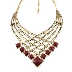 Unique Fashion Gold plated Hollow Red Pendant Necklaces Statement Necklace Maxi Colar Turco Collares Gypsy Bijoux Women N165-in Pendant Necklaces from Jewelry on Aliexpress.com | Alibaba Group