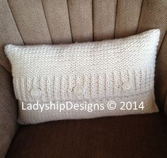 PDF KNITTING PATTERN Cable knit pillow cover pattern