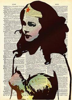 The Amazing Wonder Woman Original Pop Art Print on by AvantPrint