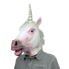 2e040eae2377 Deluxe Unicorn Mask Halloween Accessory 721773713569 eBay#Mask#Unicorn#Deluxe  Halloween Club,