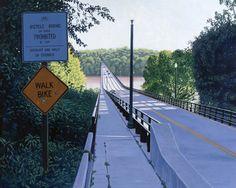The Nickel Bridge, Richmond #richmond #painting #nickelbridge #boulevardbridge #jamesriver #rva #art #virginia