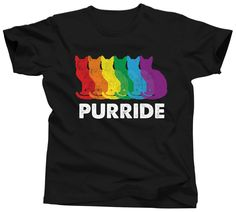 LIMITED EDITION FOR GAY PRIDE 2017!  FREE USA SHIPPING  Have you been searching for the perfect pride shirt for all the festivals coming up? Are you obsessed with your cat? Check out our limited e