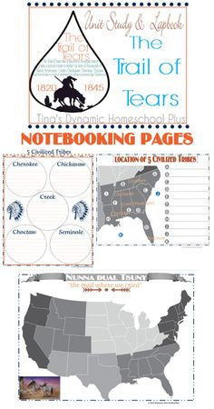 Free Trail of Tears Notebooking Pages - Tina's Dynamic Homeschool Plus