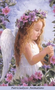 "Thomas Kinkade Angel Paintings | Details about Thomas Kinkade Illuminated ""Angel of Love"" Bradford ..."
