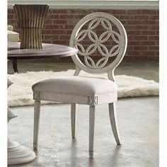 Hooker Furniture 638-75006 Melange Brynlee Side Chair in White