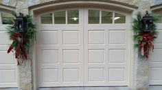 Elegant and simple decoration idea for your garage doors. Model shown: Clopay custom wood carriage h