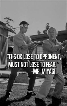 Everyone should be so lucky to have a Mr. Miyagi in their lives ;0)