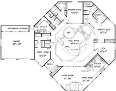 House Indoor Pool on lake house plans with courtyard