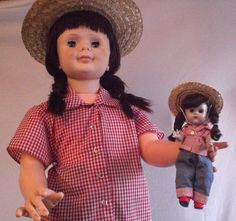 "Vogue Ginny Dolls~36"" and 8""~Patti Playpal Size~Vintage 1960s #DollswithClothingAccessories"