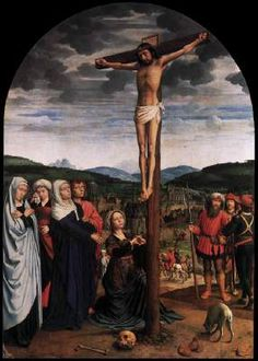 Crucifixion - Gerard David.  c.1515.  Oil on panel.  141 x 100 cm.  Gemaldegalerie, Berlin, Germany.