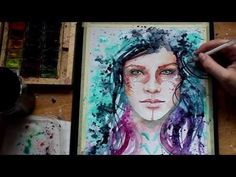 WATERCOLOR Abstract PORTRAIT - YouTube