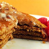 Paleo Sweet Potato Pancakes with Maple, Pecan Coconut Butter by Health-Bent