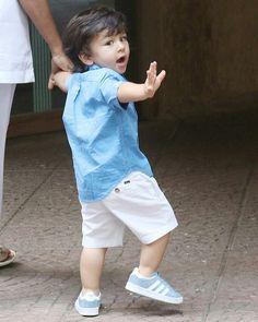 Baby Boy Dress, Baby Boy Outfits, Kids Outfits, Kareena Kapoor, Priyanka Chopra, Taimur Ali Khan Pataudi, Cute Boys, Cute Babies, Celebrity Kids