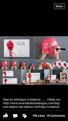 Balloon invites