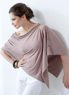 Eco-friendly Maternity and Nursing Poncho - Choose from Muted Mauve or Grunge Colors: Amazon.com: Clothing
