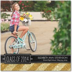 Flashy Feat - Graduation Announcements - Fine Moments - Marigold Yellow #graduation