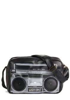 Everybody, Move Your Beat Bag. Carry a tune everywhere you go with this innovative black crossbody from Melie Bianco. Black Satchel, Satchel Purse, Black Crossbody, Satchel Handbags, Leather Crossbody, Crossbody Bag, Leather Purses, Leather Handbags, Novelty Bags