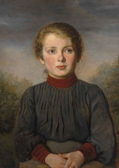 george dunlop leslie Portrait of a Young Girl