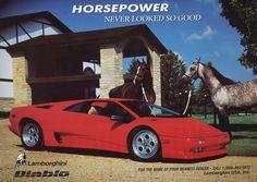 What kid didn't want a Lamborghini Diablo in Lamborghini Diablo, Ferrari, Classic Sports Cars, Classic Cars, Vintage Advertisements, Vintage Ads, 1990s Cars, Race Engines, Poster